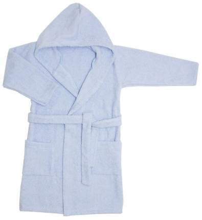 Халат Осьминожка с капюшоном махровый детский голубой 110 размер