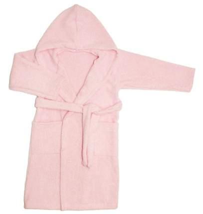 Халат Осьминожка с капюшоном махровый детский розовый 110 размер
