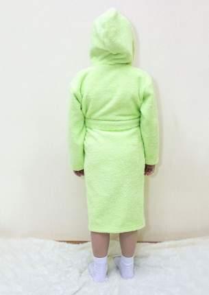 Халат Осьминожка с капюшоном махровый детский салатовый 116 размер