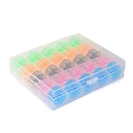 Шпульки для БШМ в пластиковом боксе, 25 штук, арт. ТВ-0350-0P