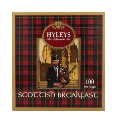Чай черный Hyleys шотландский завтрак 100 пакетиков