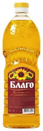 Масло Благо нерафинир подсолнечное 0.65 л