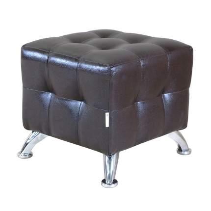 Пуф Шарм-Дизайн Квадро мини хром экокожа коричневый