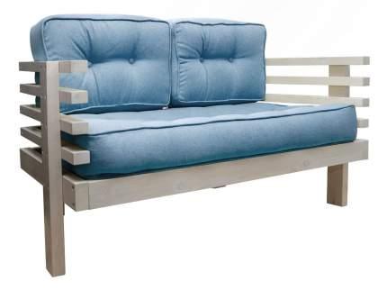Прямой диван Стоун Мини сосна беленый дуб Голубой, рогожка