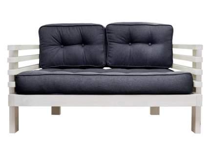 Прямой диван Стоун Мини сосна беленый дуб Черный, рогожка