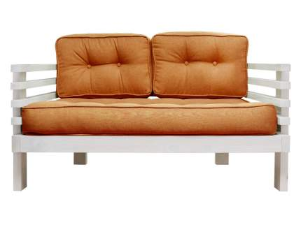 Прямой диван Стоун Мини сосна беленый дуб Оранжевый, рогожка