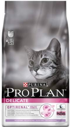 Сухой корм для кошек PRO PLAN Delicate, для чувствительного пищеварения индейка 1,5кг+400г