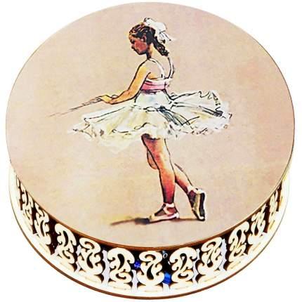 Конфеты чернослив Кремлина шоколадный в круглой шкатулке Балерина 400 г