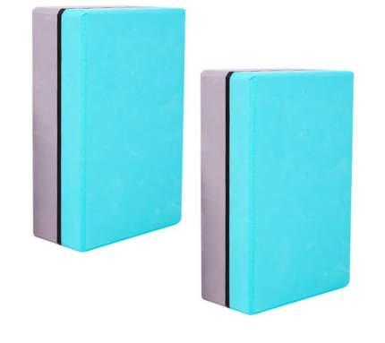 Блок для йоги голубой/серый ZDK 2шт