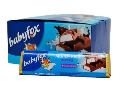 Шоколад молочный babyfox, 20шт,47гр