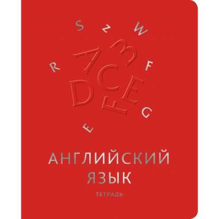 """Тетрадь предметная Unnika Land """"Мир знаний"""" (А5, 48л, скрепка, клетка, английский язык)"""