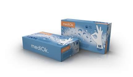 Перчатки виниловые неопудренные MediOk Vinyl размер M 50 пар