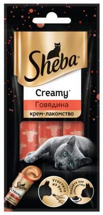 Лакомство для кошек SHEBA Creamy с говядиной, 3 шт по 12 г