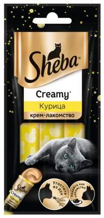 Крем-лакомство для кошек Sheba Creamy, курица, 3шт по 12г