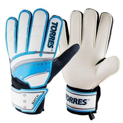 Вратарские перчатки Torres Match белые/голубые/серебристые, 8