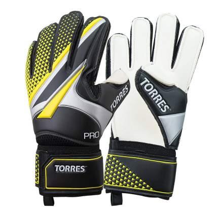 Вратарские перчатки Torres Pro черные/желто/серебристые, 10
