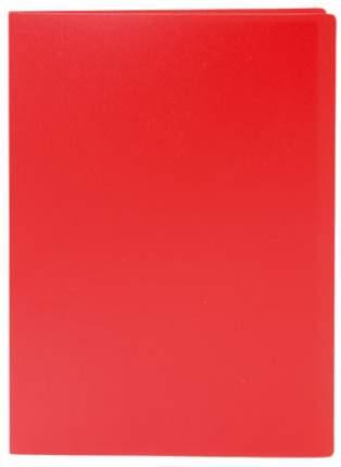 """Папка с файлами """"Lite"""", А4, 60 файлов, 500 мкм, красная"""