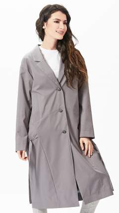 Тренч женский D`imma fashion studio 2058 серый 52 EU