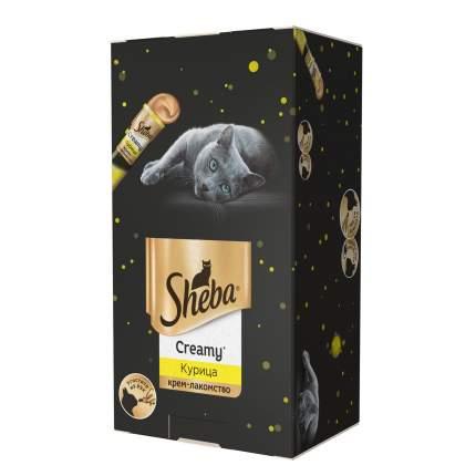 Лакомство для кошек SHEBA Creamy с курицей, 21 шт по 12г