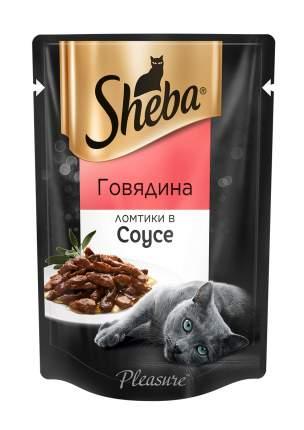 Влажный корм для кошек Sheba Pleasure, ломтики в соусе, говядина, 24 шт. по 85 г