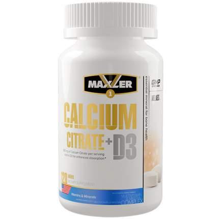 Кальций и витамин Д3 MAXLER Calcium Citrate + D3 (120 таблеток)