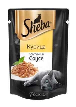 Влажный корм для кошек Sheba Pleasure, ломтики в соусе, курица, 24 шт. по 85 г