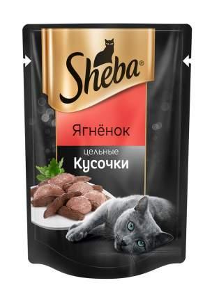 Влажный корм для кошек Sheba Pleasure, цельные кусочки, ягненок, 24 шт. по 80 г