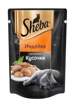 Влажный корм для кошек Sheba Pleasure, цельные кусочки, индейка, 24 шт по 80 г
