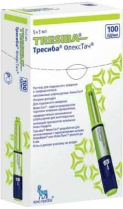 Тресиба ФлексТач раствор 100 ЕД/мл 3 мл 5 шт.