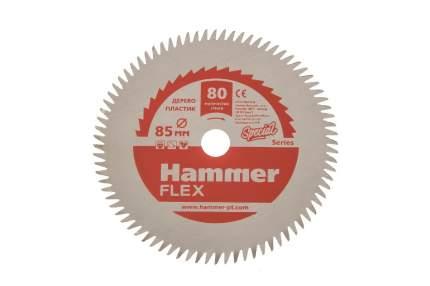 Пильный диск HAMMER Ф85х10мм 80зуб, (205-135)