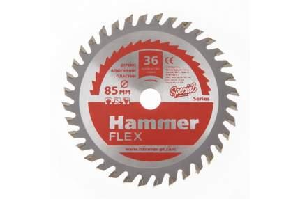 Пильный диск твердосплавный HAMMER Ф85х10мм 36зуб, (205-134)