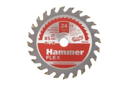 Пильный диск твердосплавный HAMMER Ф85х10мм 24зуб, (205-133)