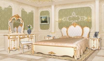 Зеркало Мэри-Мебель Дольче Вита СДВ-06 слоновая кость с золотом, 111х9х115 см.