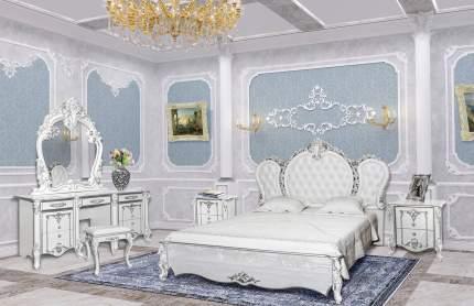Зеркало Мэри-Мебель Дольче Вита СДВ-06 белый глянец с серебром, 111х9х115 см.