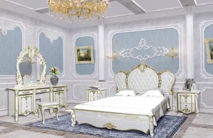 Зеркало Мэри-Мебель Дольче Вита СДВ-06 белый глянец с золотом, 111х9х115 см.