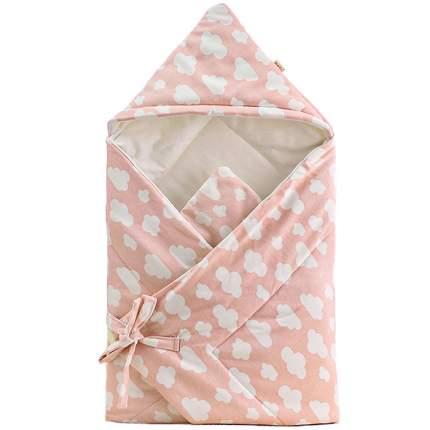 Одеяло-конверт Baby Fox Облака, осеннее, цвет розовый, 90х90 см