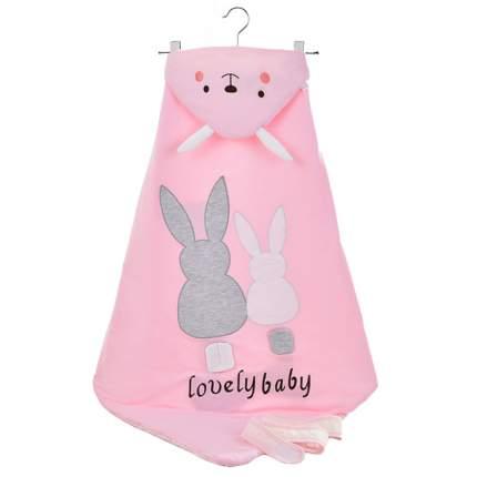 Одеяло-конверт Baby Fox Зайчик, весеннее, цвет розовый, 90х90 см