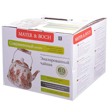 Чайник MAYER & BOCH, 6 л, розы