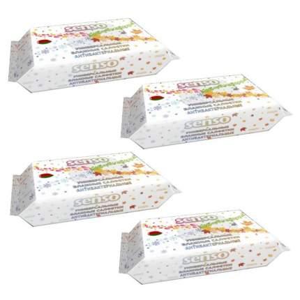 Влажные салфетки Senso антибактериальные универсальные 100 х 4 шт