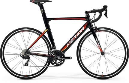 """Шоссейный велосипед Merida Reacto 400 (2020) размер рамы 56 см"""" Черно-красный"""
