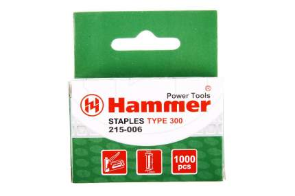 Гвозди для степлера HAMMER Гвозди 14мм, 1,2 мм, Т-образ, (тип300)
