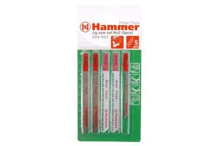 Пилки для лобзика HAMMER JG WD-PL набор No2 (5шт,)