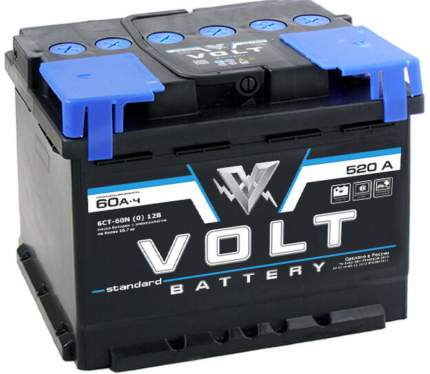 Аккумулятор автомобильный VOLT STANDARD 6СТ-60.0 VS6001