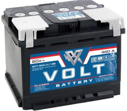 Аккумулятор автомобильный VOLT CLASSIC 6СТ-60.1 VC6011