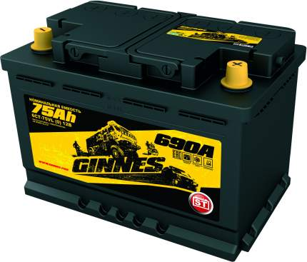 Аккумулятор автомобильный GINNES ST 6CT-75.0 GS7501