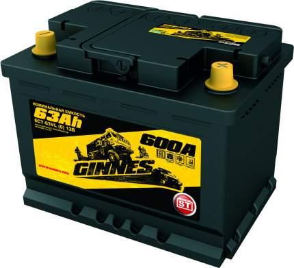 Аккумулятор автомобильный GINNES ST 6CT-63.0 GS6301
