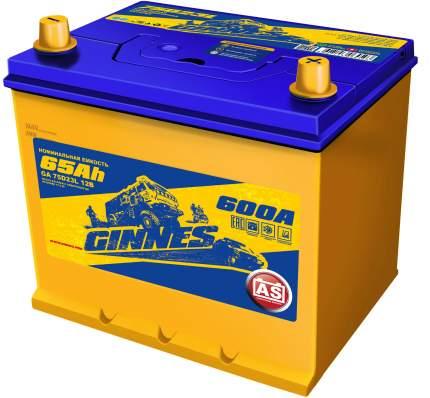 Аккумулятор автомобильный GINNES Asia 6CT-65.0 / 75D23L GA6501