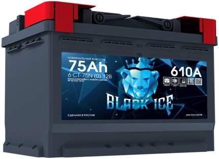 Аккумулятор автомобильный BLACK ICE 6СТ-75.0 BI7501