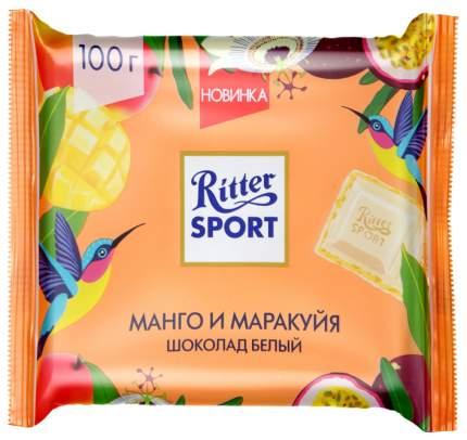 Шоколад Ritter Sport белый с начинкой из крема манго-мара 100 г