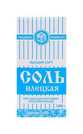 Соль илецкая Руссоль помол n 1 в/с поваренная пищевая 1 кг